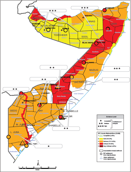 Somalia: Acute Malnutrition Situation June 2018 and